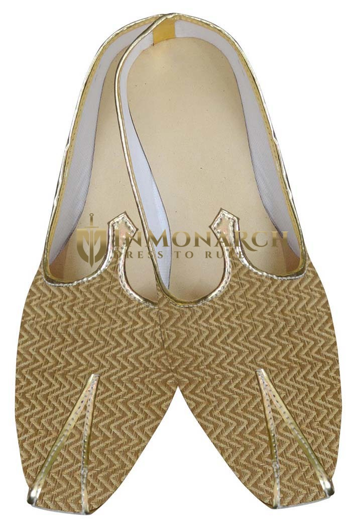Mens Golden Wedding Shoes Wave Wales
