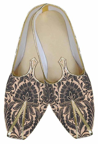 Mens Black Brocade Dazzling Shoes