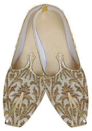 Mens Golden Attractive Wedding Shoes