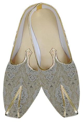 Indian WeddingShoes For Men Cream Designer Shoes Groomsmen