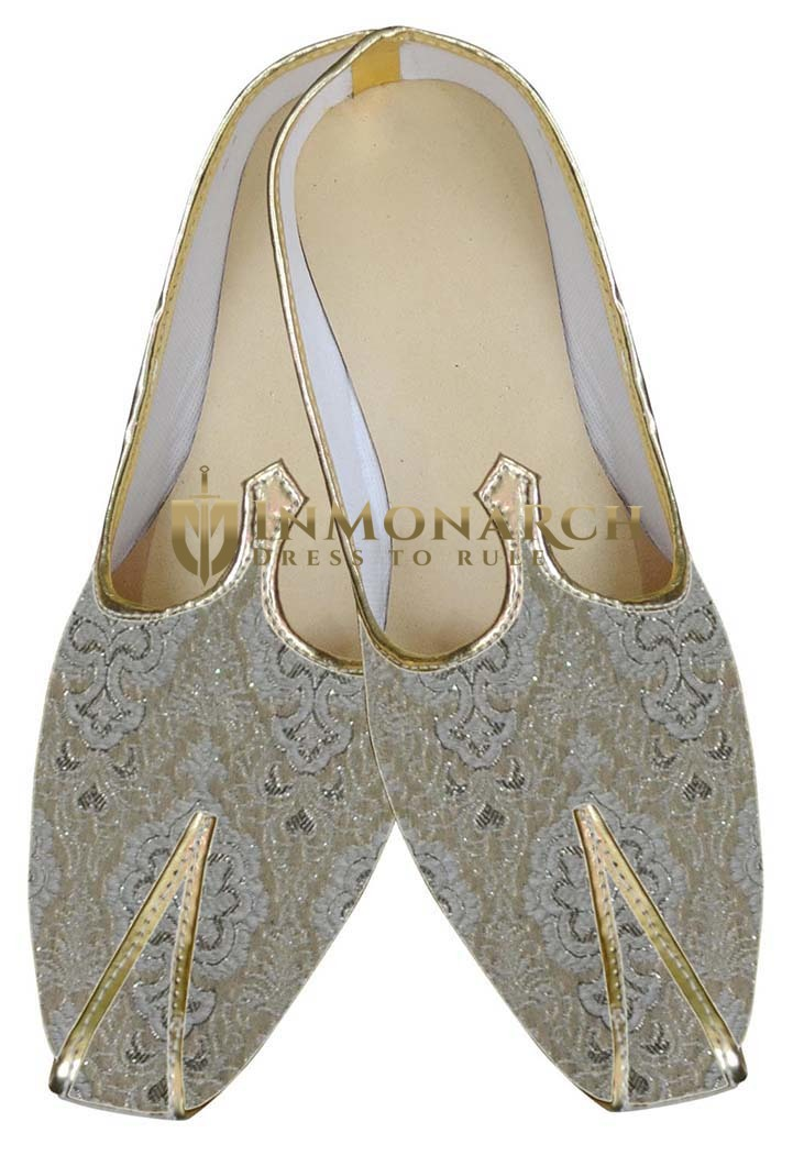 Indian Wedding Shoes For Men Cream Designer Shoes Groomsmen