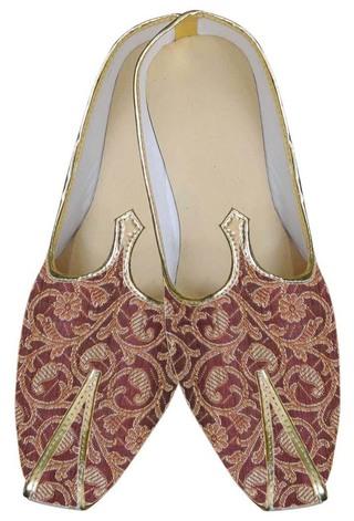 Mens Red Dashing Look Wedding Shoes