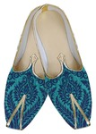 Mens Blue Jodhpuri Shoes Teal Design
