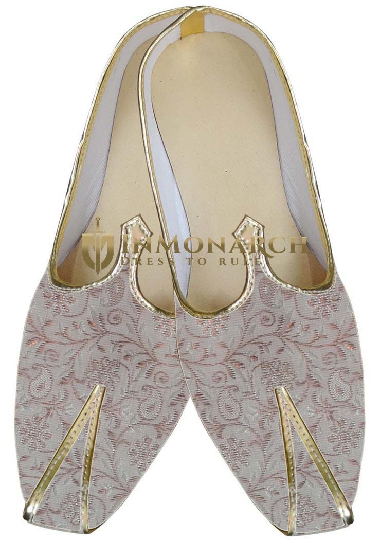 Mens Cream Indian Wedding Shoes