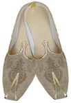 Mens Cream Ivory Brocade Two Tone Wedding Shoes