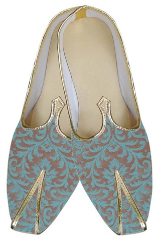 Mens Teal Two Tone Wedding Shoes