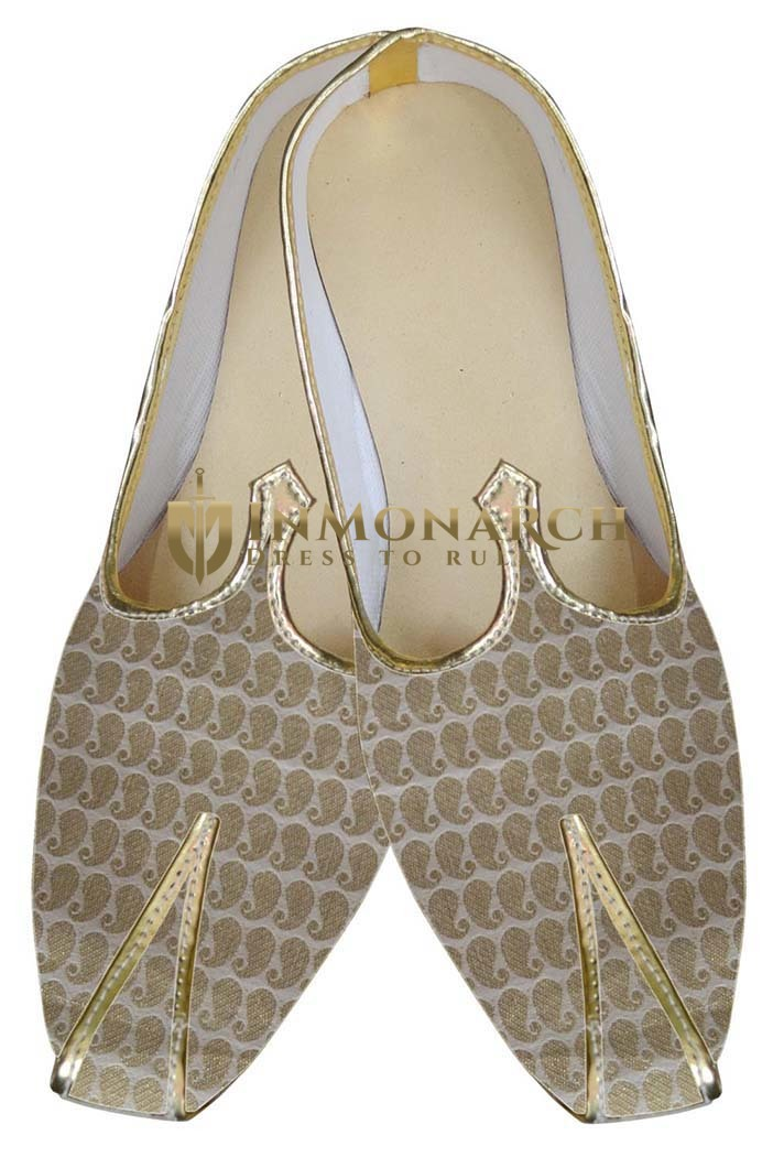Mens Cream Indian Wedding Mojari