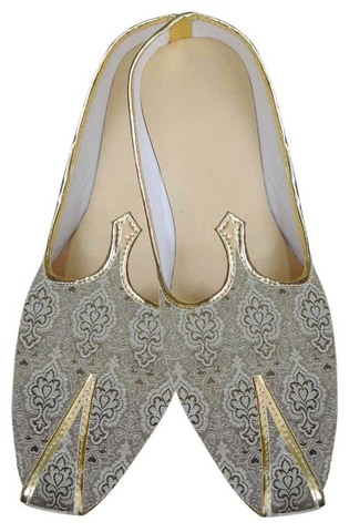 Mens Beige Brocade Awesome Shoes