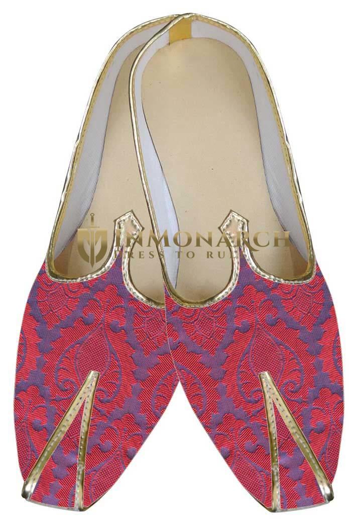 Mens Sherwani Shoes Purple Indian Wedding Shoes Juti ForMen
