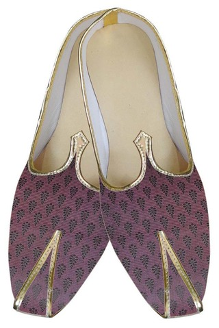 Mens Magenta Brocade Wedding Shoes