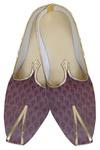 Mens Magenta Brocade Wedding Shoes