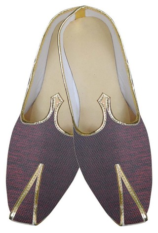 Mens Maroon Indian Wedding Shoes