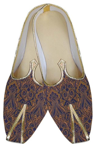 Juti ForMen Navy Blue Indian Wedding Shoes Groom Wedding Shoe