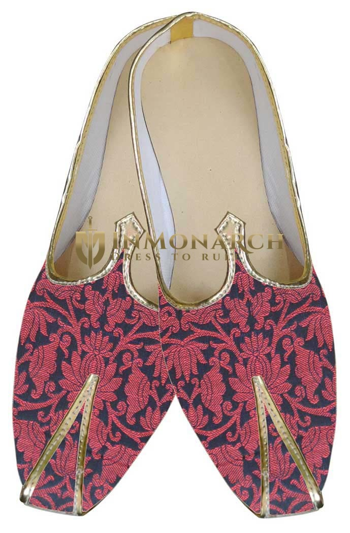 Mens Crimson Red Wedding Shoes