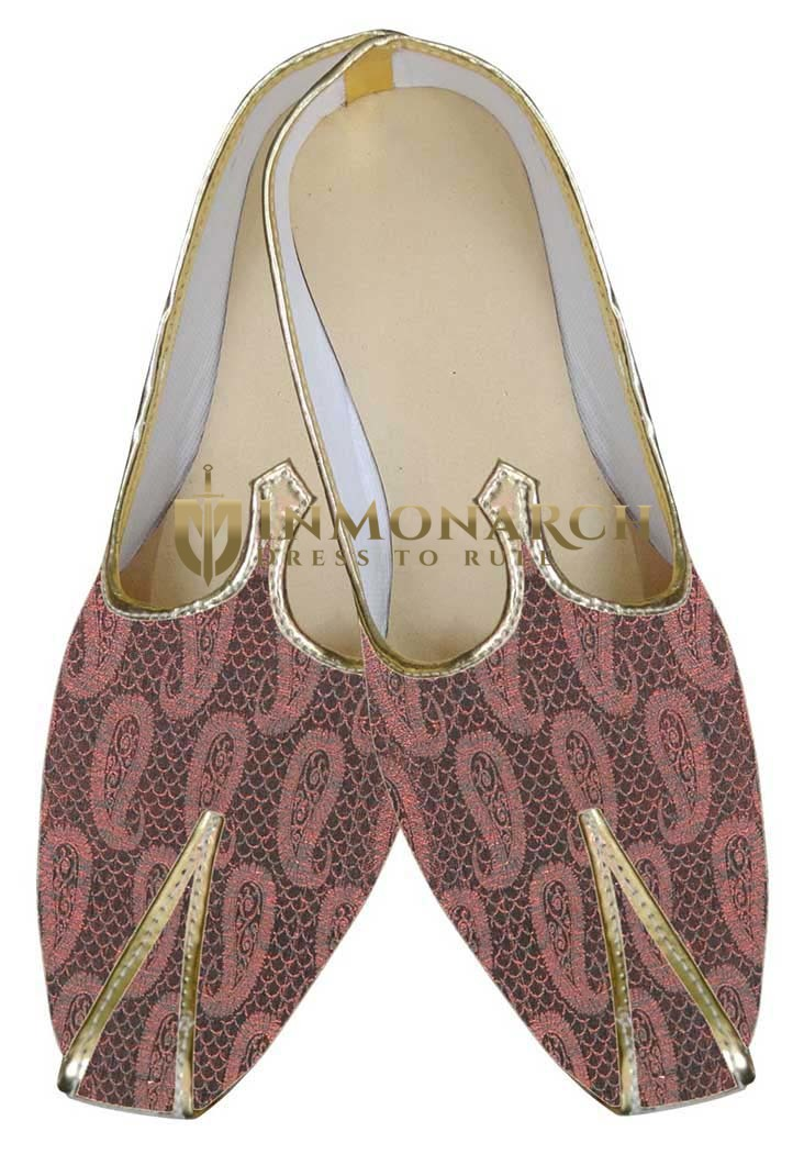 Mens Pink Indian Wedding Shoes