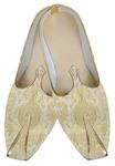 Mens Golden Cream Wedding Shoes
