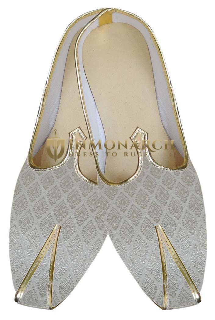 Mens Ivory Indian Wedding Shoes
