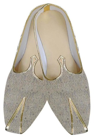 INMONARCH Indian Mens/Shoes Beige Designer Wedding Shoes Mens Juti MJ0108