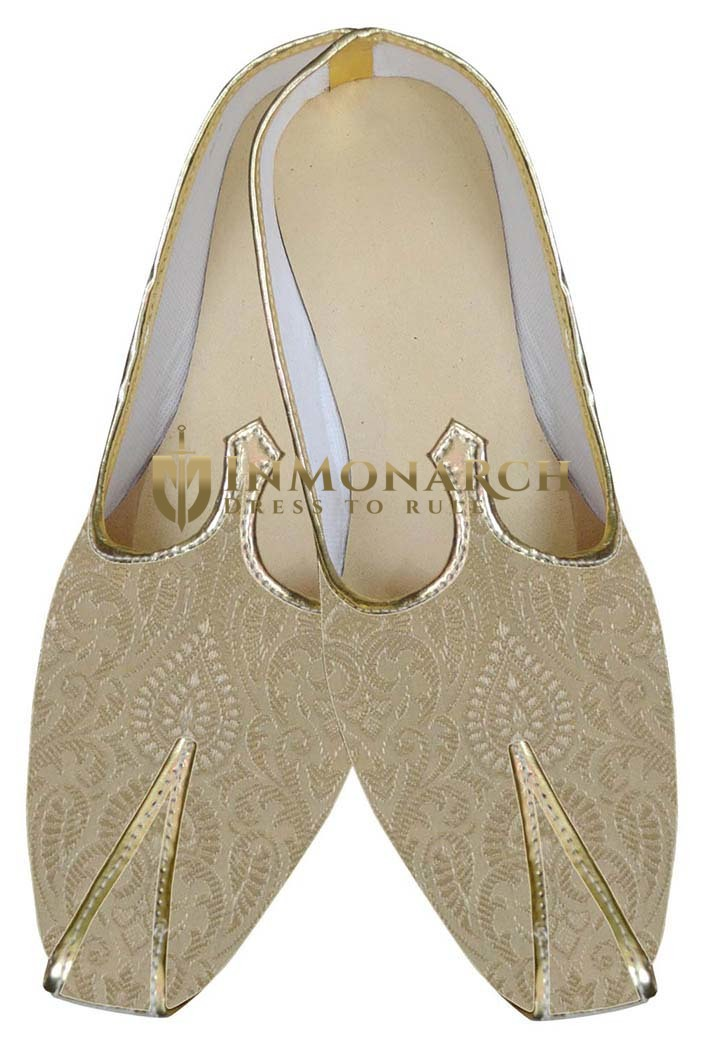 Mens Juti Golden Designer Indian Shoes Traditional Shoes For Men
