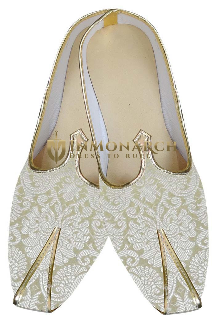 Indian Wedding Shoes For Men Beige Designer Indian Shoes