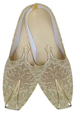 Mens Beige Indian Wedding Shoes