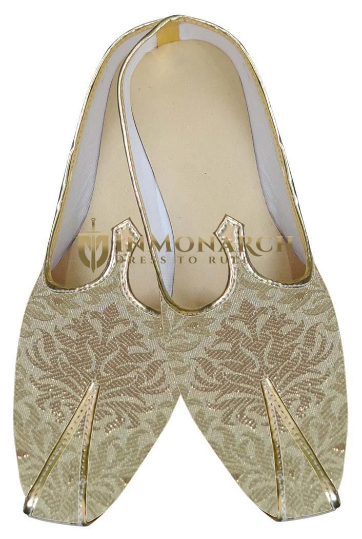 Mens Beige Indian Wedding Shoes