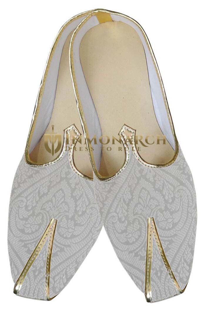 Mens Juti Cream Sherwani Shoes Designer Indian Shoes