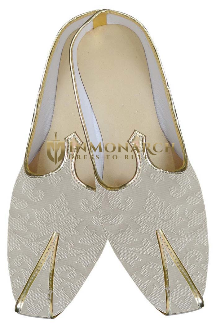 Mens Cream Gorgeous Wedding Shoes