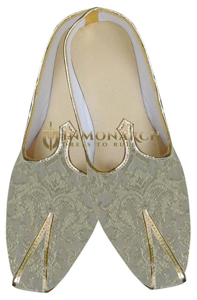 Mens Sherwani Shoes Golden Indian Shoes Juti For Men