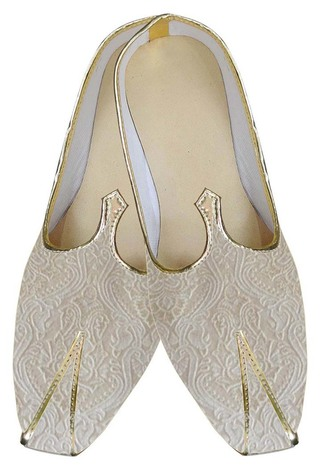 Juti For Men Cream Indian Wedding Shoes Occasional Wedding Shoe