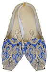 Mens Blue Indian Wedding Shoes Special Design