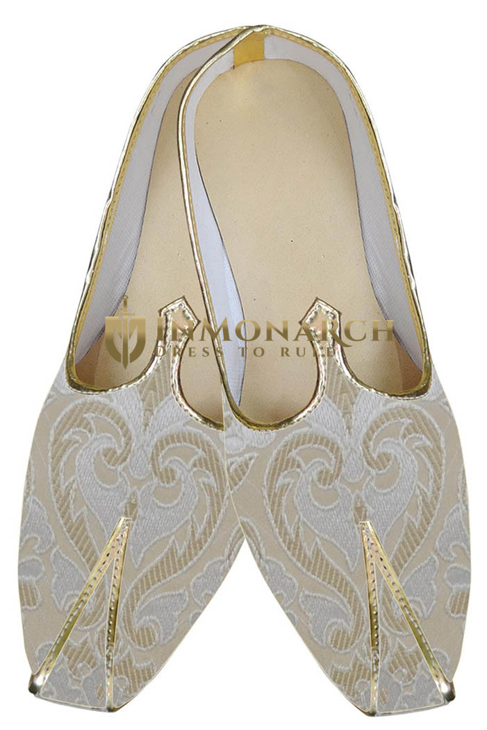 Mens Wedding Shoe For Groom Cream Indian Wedding Shoes Bridal Shoes