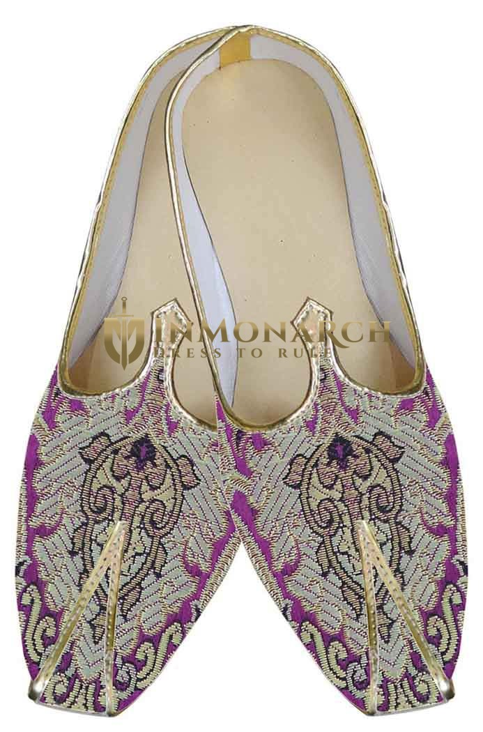 Mens Pink Brocade Wedding Shoes Partywear