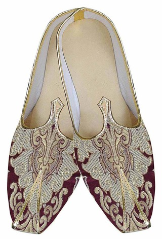 Mens Maroon Indian Wedding Delightful Shoes