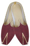 Mens Maroon Traditional Indian Wedding Shoes