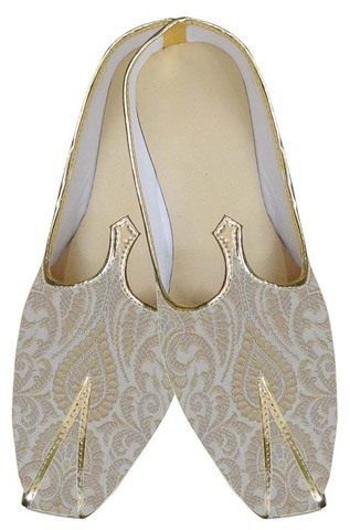 Mens Cream Indian Superb Wedding Shoes