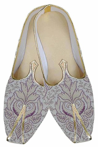 Mens Purple Indian Trendy Wedding Shoes