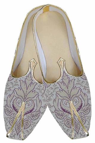 Indian MensShoes Purple Indian Wedding Shoes Designer Juti