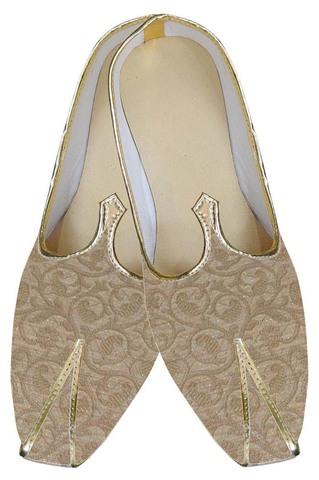 Mens Golden Ultimate Look Indian Wedding Shoes