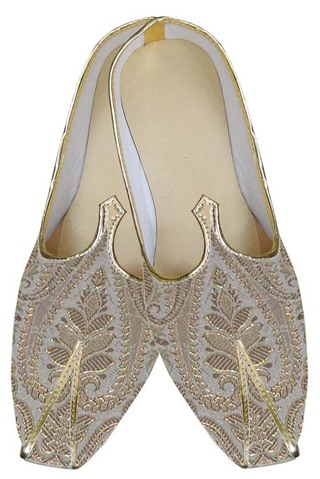 Mens Indian Bridal Shoes Cream Indian Wedding Shoes Golden Design