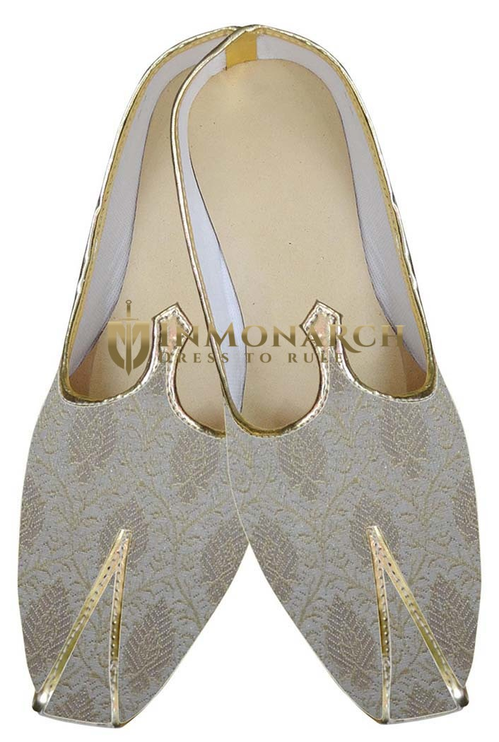 Mens Cream Classic Indian Wedding Shoes