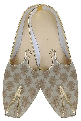 Mens Golden Occasional Indian Wedding Shoes