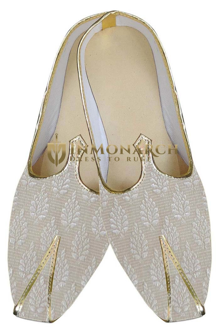 Indian Mens Shoes Cream Indian Wedding Shoes Formal Juti
