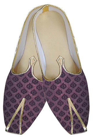 Mens Wine Trendy Look Indian Wedding Shoes