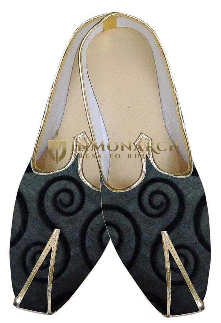 Mens Indian Bridal Shoes Gray Indian Wedding Shoes