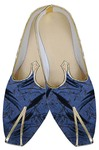 Mens Blue Imperial Indian Wedding Shoes