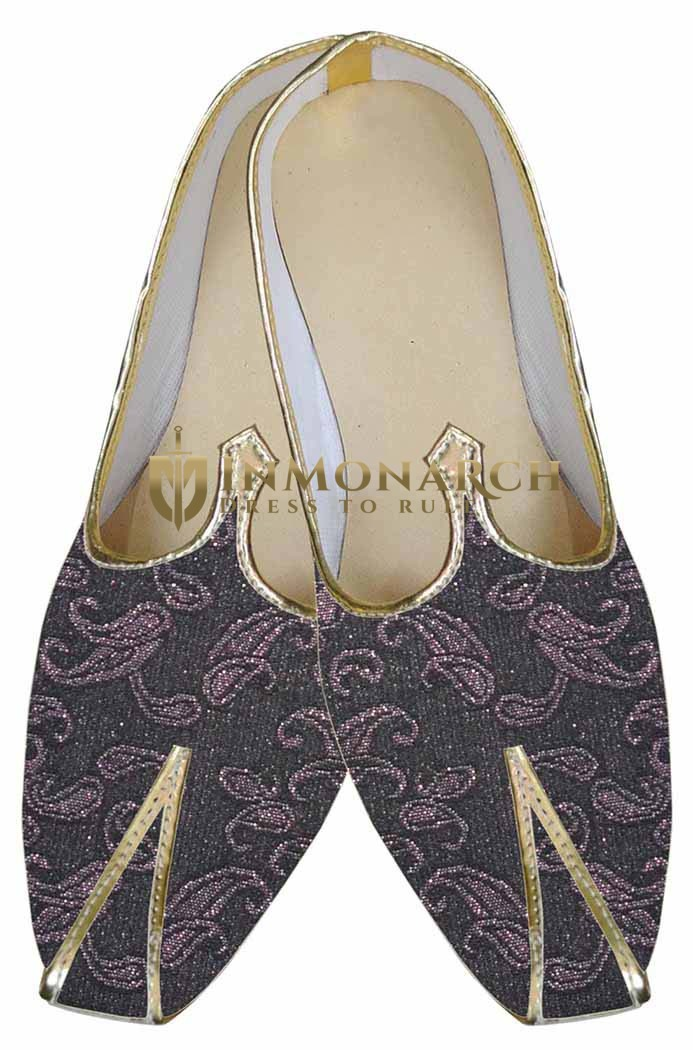 Mens Wedding Shoe For Groom Brown Indian Wedding Shoes Paisley Pattern