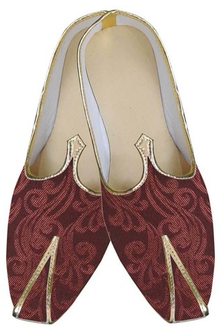 Mens Maroon Stylish Indian Wedding Shoes