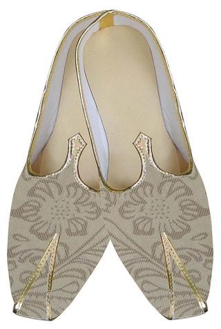 Mens Golden Impressive Indian Wedding Shoes