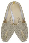 Mens Beige Brocade Wedding Shoes Flower Design